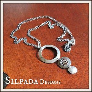 Silpada Spiral Swirl Pendant Necklace